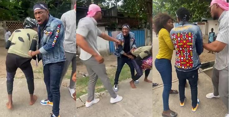 BBNaija's Trikytee And Eric Caught On Camera Fighting A Man In Public Over N5,000 [Video] 1