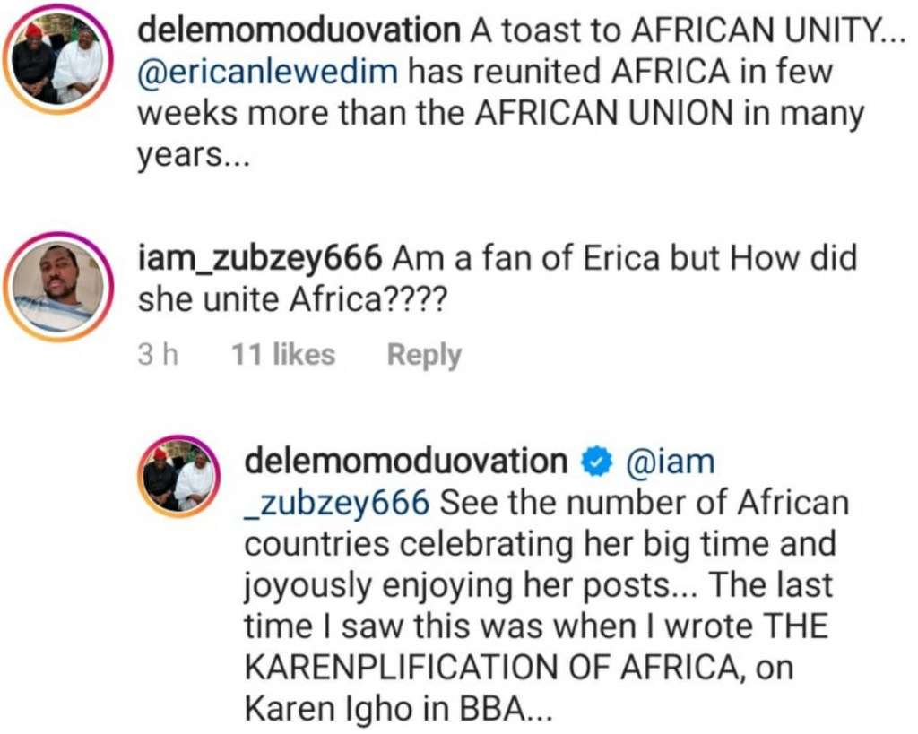 """Erica Has Reunited Africa More Than The African Union Has Done In Years"" — Dele Momodu 2"