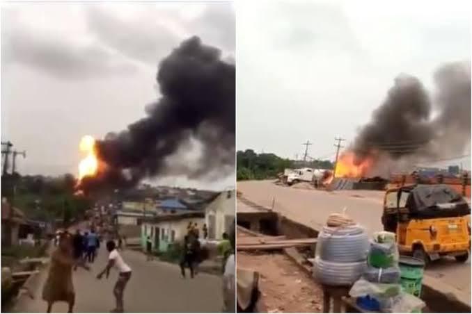 Many Injured, Properties Burnt In Gas Tanker Explosion At Ajuwon Iju-Ishaga Road, Lagos [Video] 1