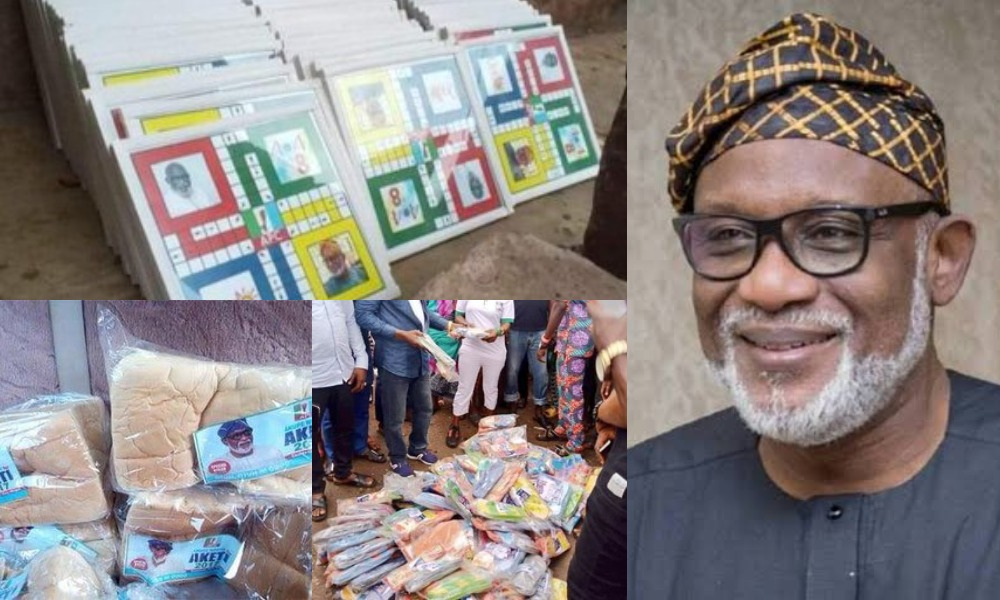Outrage As Governor Akeredolu Shares Bread, Ludo And Slippers Ahead Of Ondo Guber Elections 1