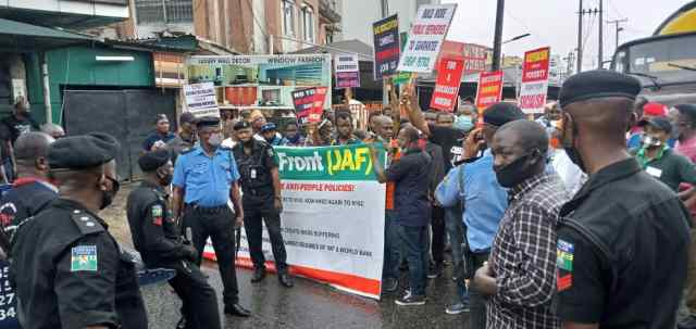 Protesters take over Lagos due to fuel hike and electricity tariff increase