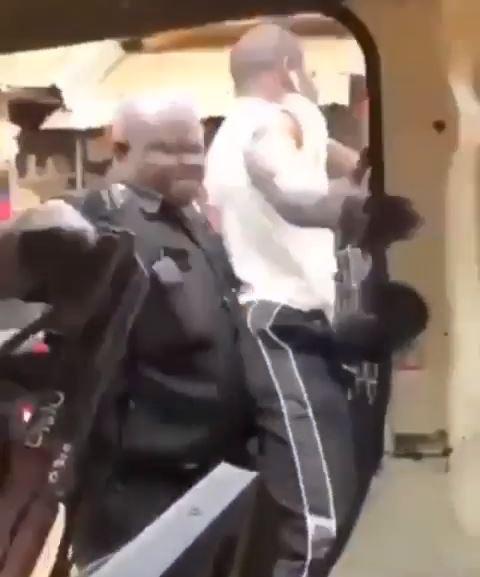Policemen make arrests