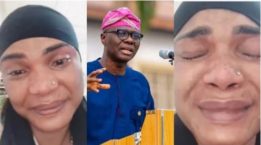 Actress, Iyabo Ojo In Tears As Hoodlums Loot And Destroy Properties in Lagos (Video)