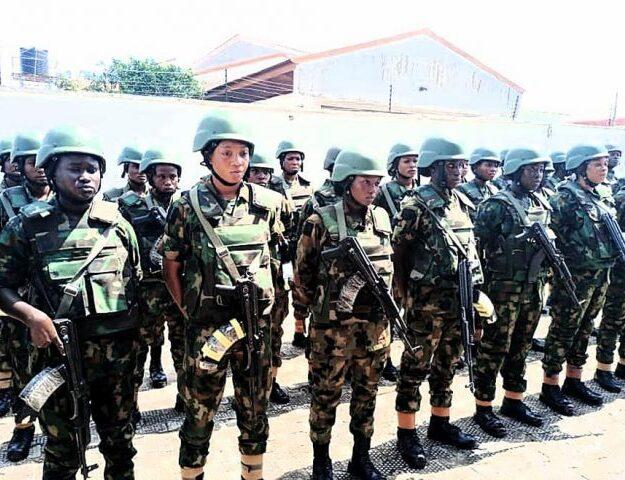 Army deploys all-female squad to Anambra [Photos]