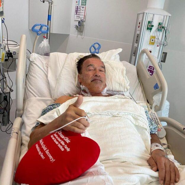 Arnold Schwarzenegger says he feels great after heart surgery