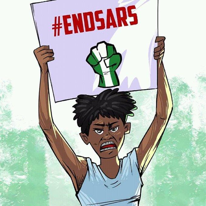 #EndSARS protester