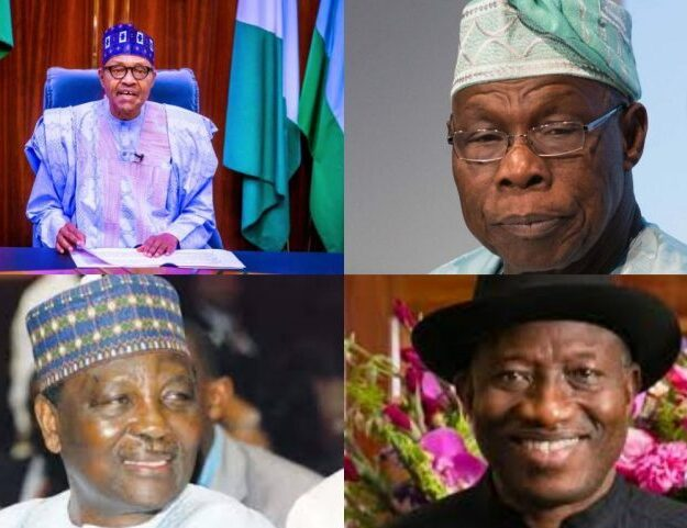 Buhari in crucial meeting with Obasanjo, Jonathan, other Heads of State
