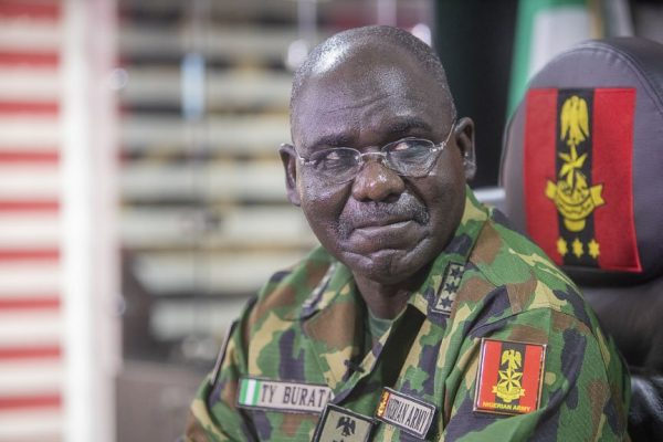 Buratai rallies troops to defend Nigeria against subversives, 10 AK 47 lost