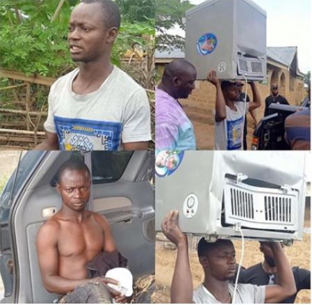 Drama As Looter's Motorcycle Gets Stolen After He Went To An Osun Store To Steal A Freezer