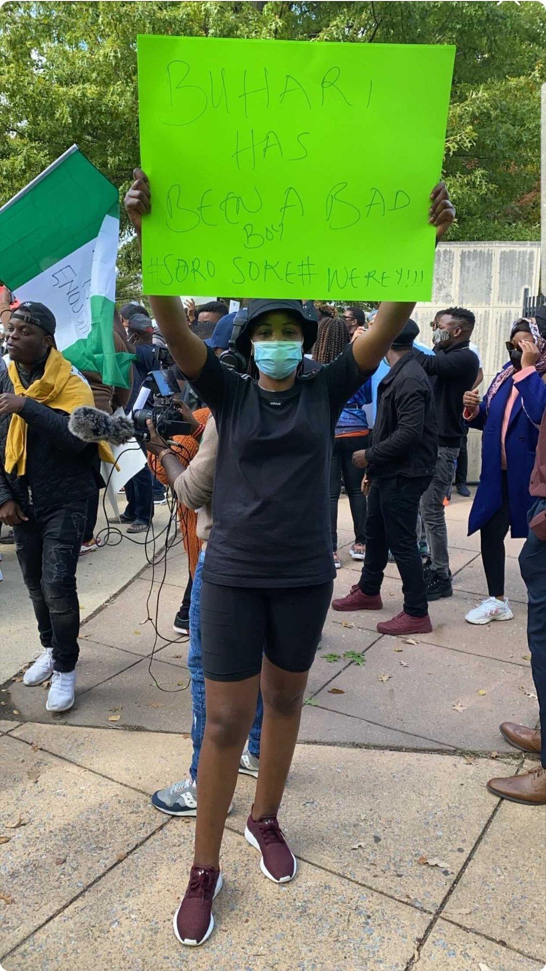 #EndSARS: Nigerians in America Protest at Nigerian Embassy in Washington DC (Photos) 2
