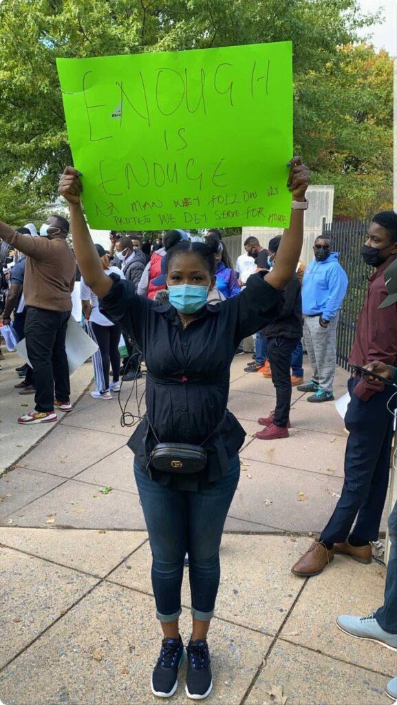 #EndSARS: Nigerians in America Protest at Nigerian Embassy in Washington DC (Photos) 3