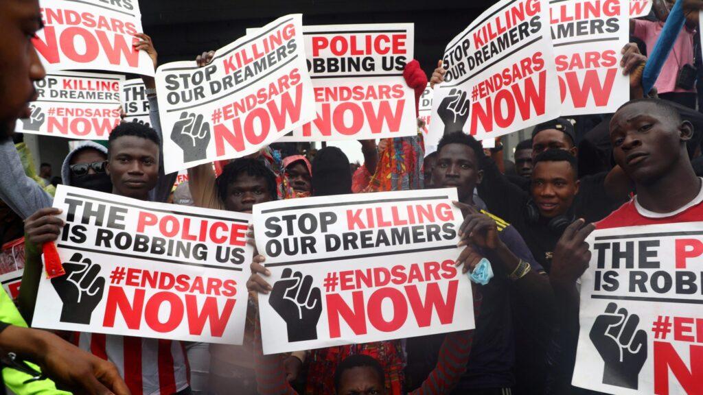 #EndSARS: Nigerians in America Protest at Nigerian Embassy in Washington DC (Photos) 1