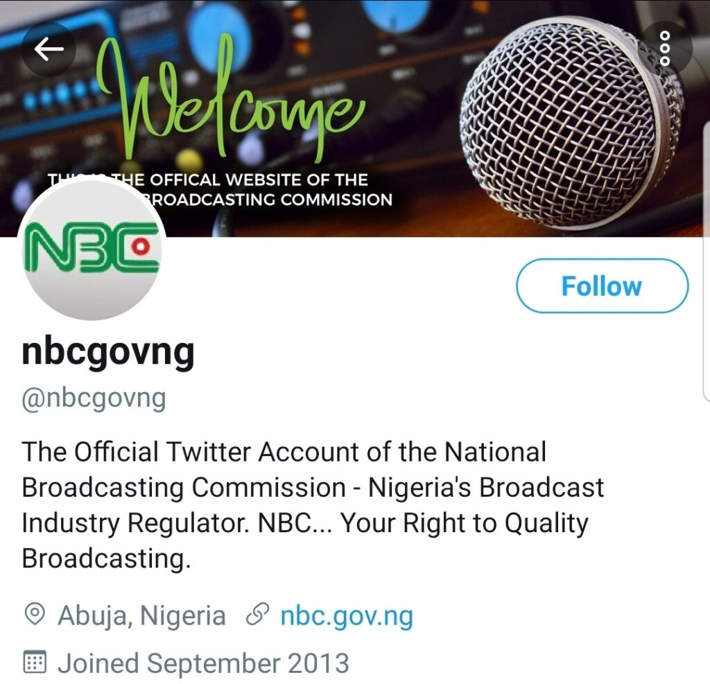 #EndSWAT Anonymous Hackers Takes Over Official Twitter Page of Nigeria's National Broadcasting Commission 1