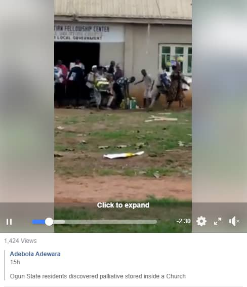 Hoodlums Cart Away Food Items Discovered Inside a Church In Ogun State (Video)