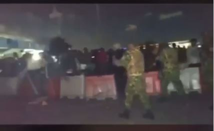 Soldiers shoot protesters