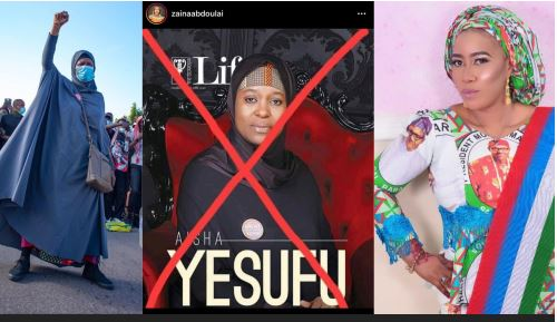 Kannywood Actress, Zainab Abdullahi, Asks Northerners To Kill Nigerian Activist, Aisha Yesufu