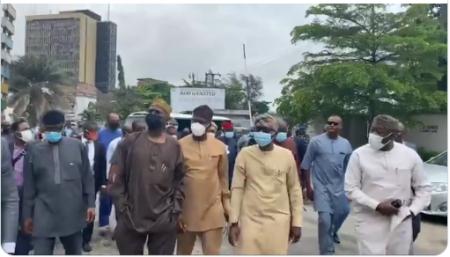 Lagos mayhem: Southwest governors, Gbajabiamila, ministers visit Sanwo-Olu (Video)