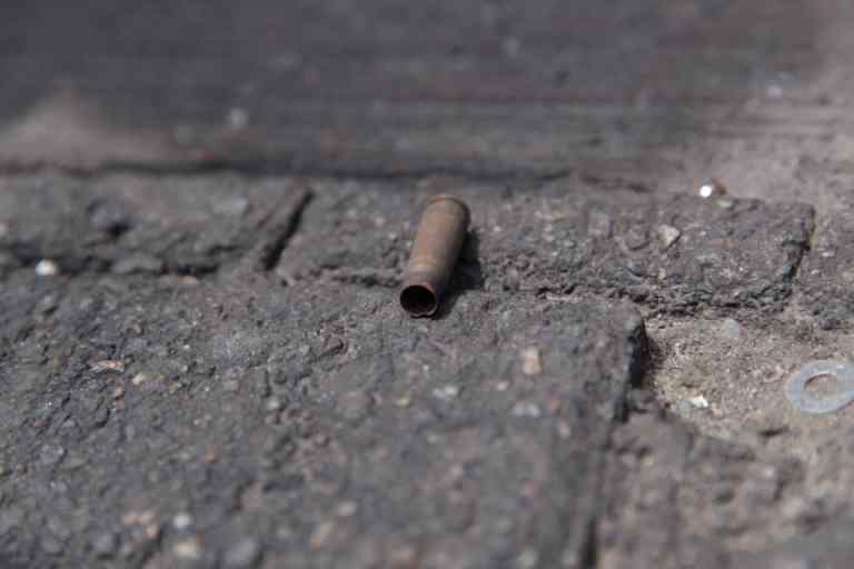 Bullet shells recovered at the Lekki shooting scene