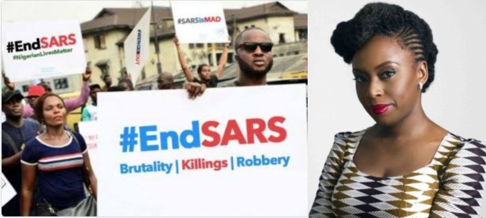 """""""Nigeria Is Murdering Its Citizens"""" - Chimamanda Ngozi Adichie Writes About #EndSARS Protest 1"""