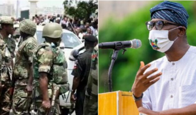 Outrage on Twitter over army's indictment of Sanwo-Olu