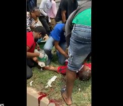 A victim killed during the protest
