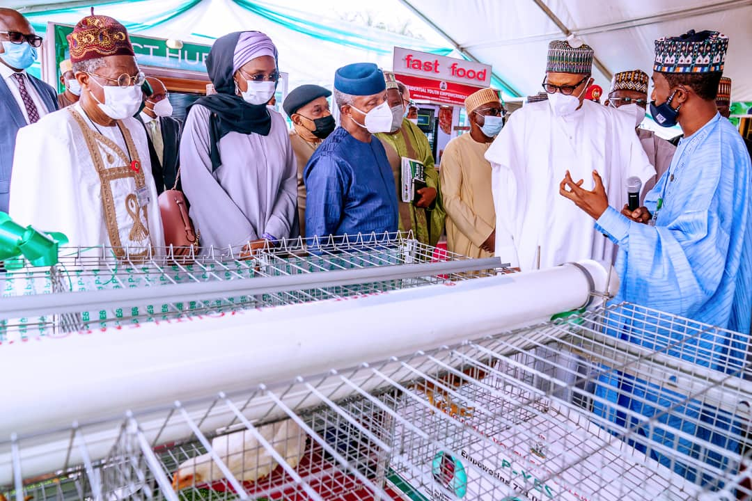 President Buhari Launches Motorcycle, Keke-Napep, Others For Youth Empowerment Scheme [Photos] 11