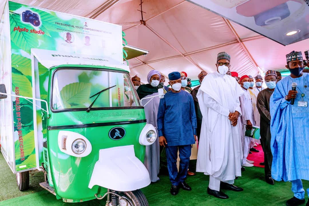 President Buhari Launches Motorcycle, Keke-Napep, Others For Youth Empowerment Scheme [Photos] 3