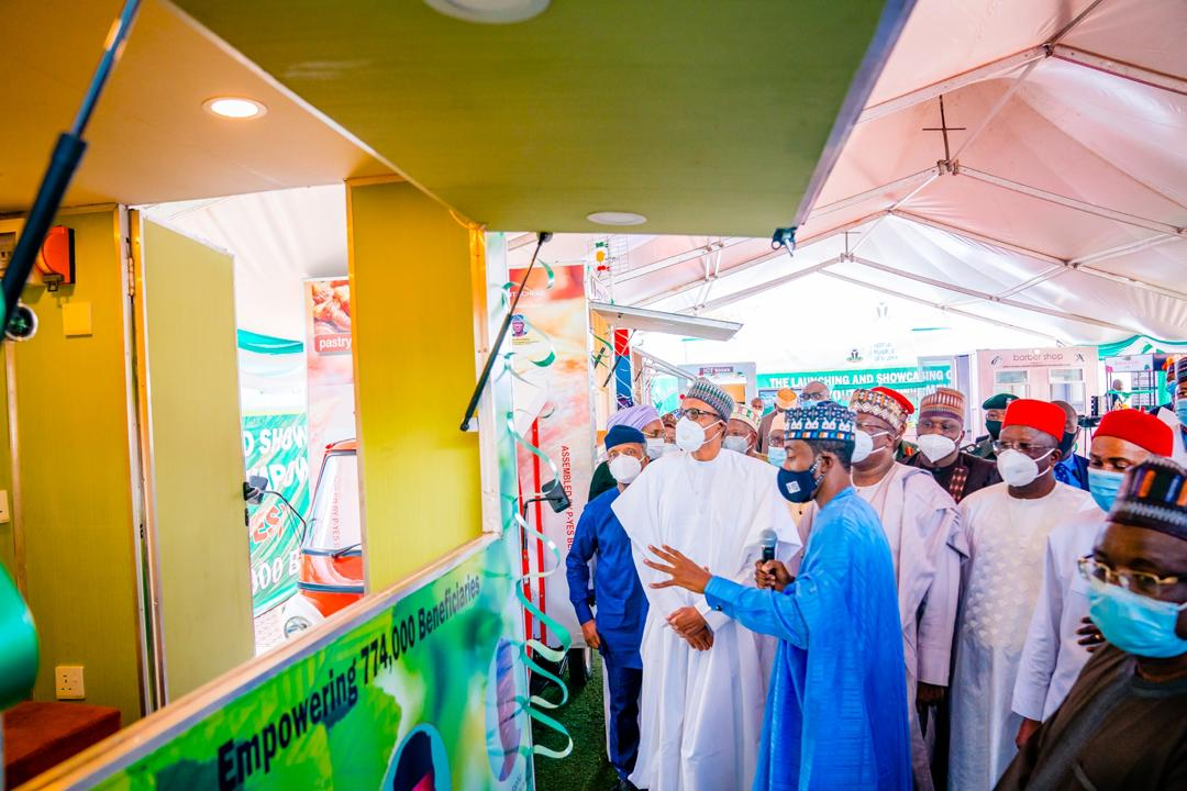 President Buhari Launches Motorcycle, Keke-Napep, Others For Youth Empowerment Scheme [Photos] 6