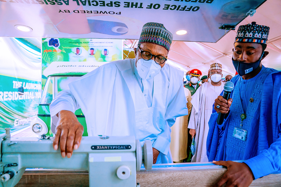 President Buhari Launches Motorcycle, Keke-Napep, Others For Youth Empowerment Scheme [Photos] 10