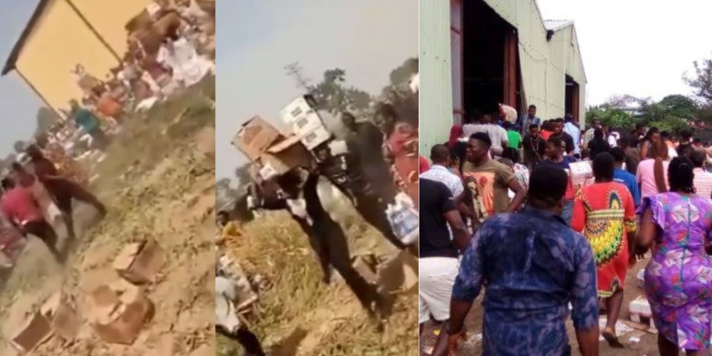 Residents Loot Warehouse Filled With COVID-19 Palliative In Yola, Adamawa State [Video] 1