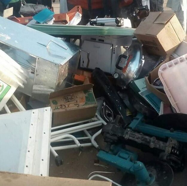 Residents Of Adamawa Return Looted Items After Governor Fintiri's 12-hour Ultimatum (Photos)