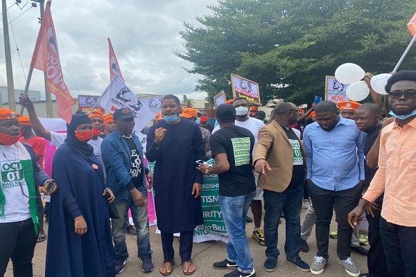 RevolutionNow Protests Hits Abuja, Ibadan On Independence Day Amidst Heavy Security [Photos] 4
