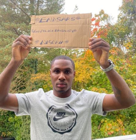 Odion Ighalo shows support for #EndSARS