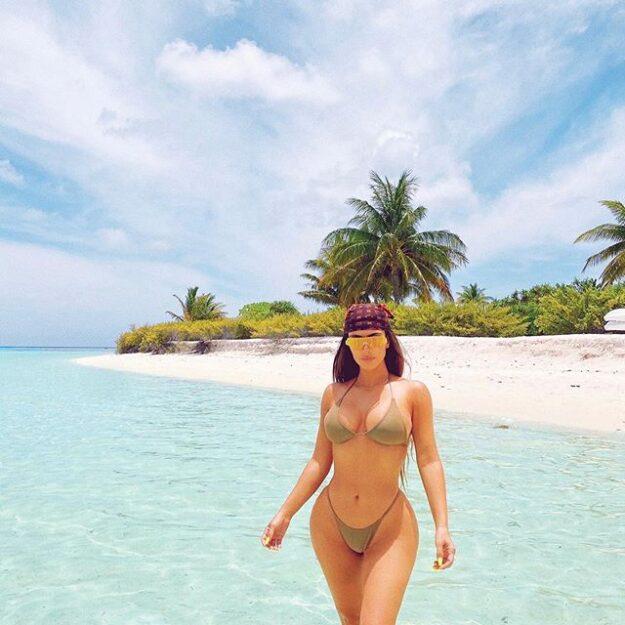 See Kim Kardashian's bikini body at 40