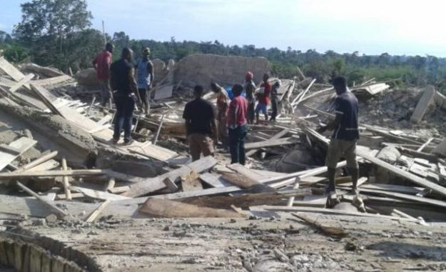 Shocker! 17 Worshipers Killed As 3-Storey Church Building Collapses, Traps Many People Inside