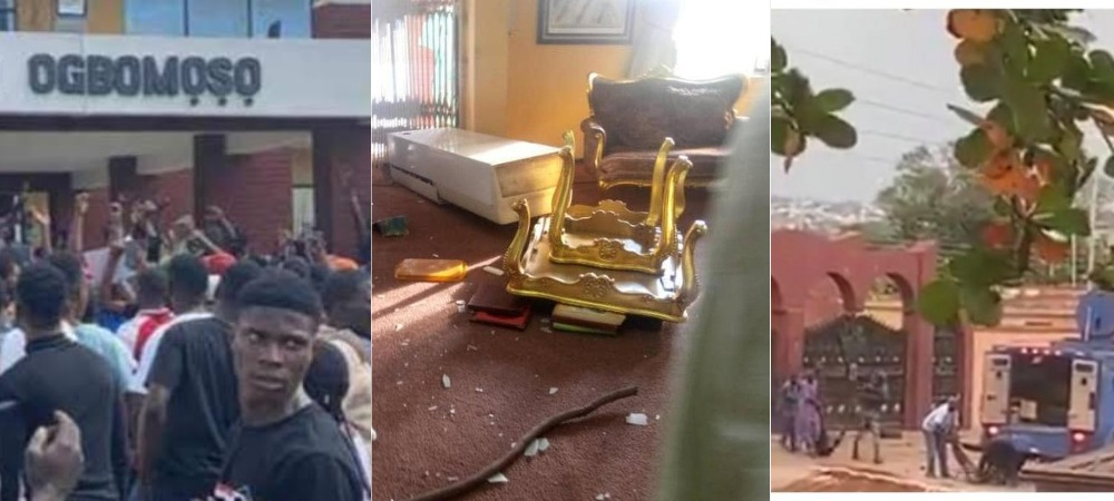 Sport Minister, King Of Ogbomoso Chased Out Of Palace As #EndSARS Protest Turns Bloody Again In Oyo 1
