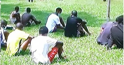 Suspected Looters And Prison Escapees Caught And Paraded in Edo (Photos)
