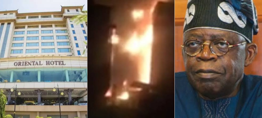 Tinubu's Oriental Hotel In Lekki Set Ablaze [Video] 1