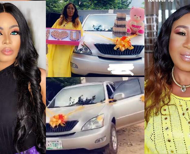 Too Much Money! BBNaija Star, Nina Buys Her Mother A Car On Her 60th Birthday (Video)