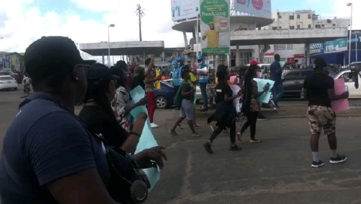Toyin Abraham leads #EndSARS protest