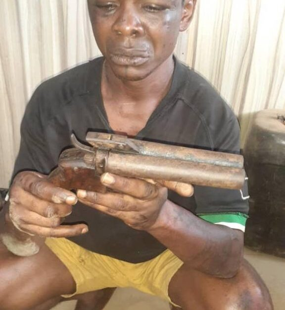 Wanted Eiye Cultist Caught During Robbery Operation In Ogun (Photo)