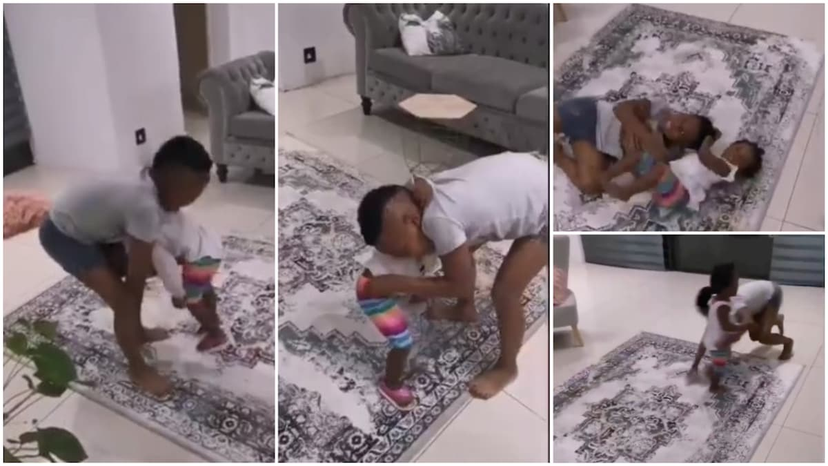 Watch: Funny Video Of Two Kids Performing Wrestling Match Goes Viral 1