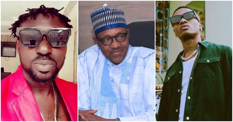 """""""Why Don't You Face Your Music Small Man"""" - Blackface Attacks Wizkid For 'Insulting' Buhari 1"""