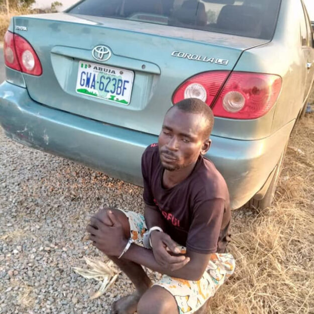 End Of The Road! See The Notorious Car Snatcher Who Was Nabbed In Adamawa (Photos)