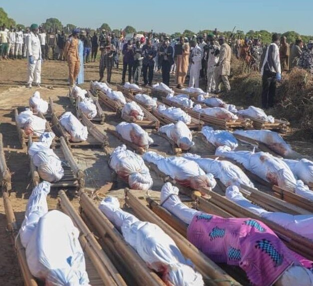 Heartbreaking Photos From The Funeral Of 43 Farmers Slaughtered By Boko Haram In Borno