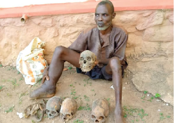 Man Who Was Caught With Human Skulls, Other Body Parts Explains Why He Started Exhuming Dead Bodies