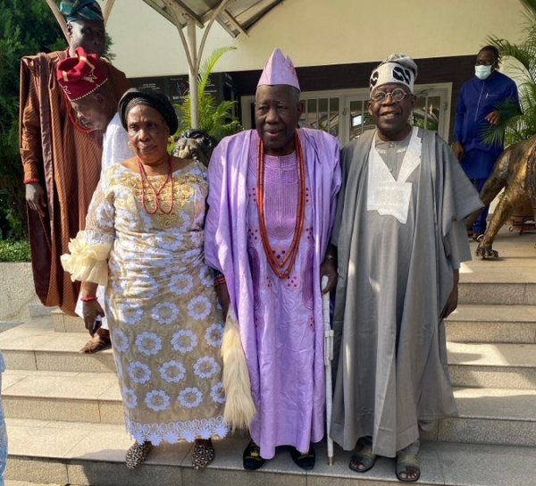 Photo News: Olubadan, wife hit Bourdillon to visit Tinubu