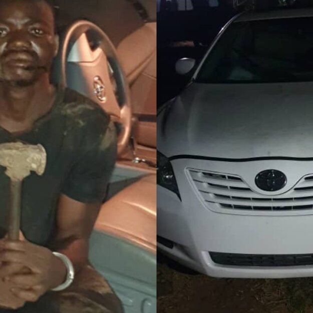 Photo Of Suspected Armed Robber Who Was Caught With Stolen Car In Ogun
