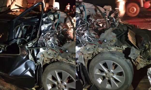Photos, video: Nigerian singer Dare Melody escapes death in ghastly accident