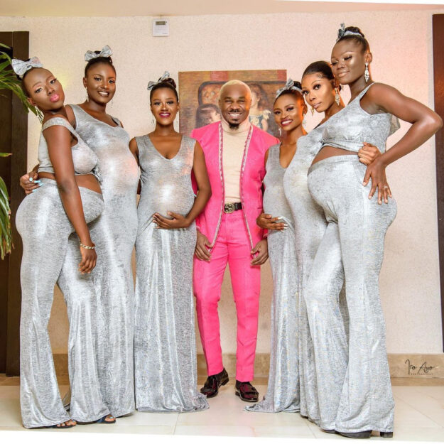 Pretty Mike Storms Williams Uchemba's Wedding With An Entourage Of Heavily Pregnant Women (Video)